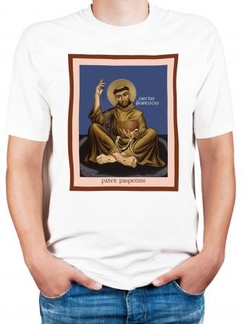 Adult T-shirt - St. Francis, Father of the Poor by R. Lentz