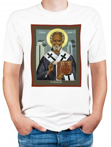 Adult T-shirt - St. Nicholas of Myra by R. Lentz