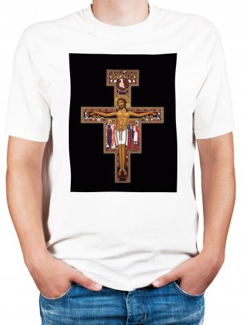 Adult T-shirt - San Damiano Crucifix by R. Lentz