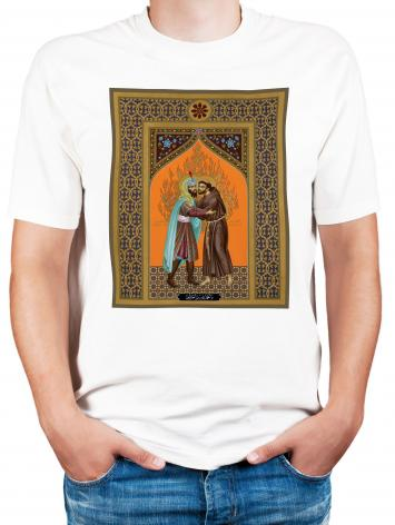 Adult T-shirt - St. Francis and the Sultan by R. Lentz