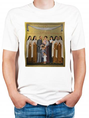 Adult T-shirt - Sts. Louis and Zélie Martin with St. Thérèse of Lisieux and Siblings by P. Orlando