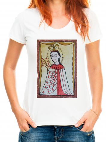 Adult T-shirt - Our Lady of the Roses by A. Olivas