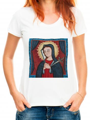 Adult T-shirt - Mater Dolorosa - Mother of Sorrows by A. Olivas