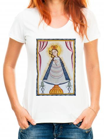 Adult T-shirt - Virgin of the Macana by A. Olivas