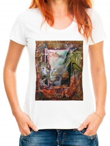 Adult T-shirt - Faces Amidst Tattered Shroud by B. Gilroy