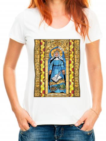 Adult T-shirt - St. Hildegard of Bingen by B. Nippert