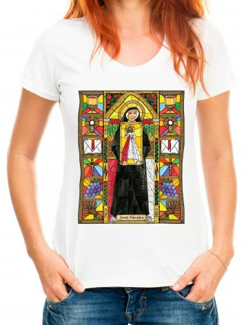 Adult T-shirt - St. Faustina by B. Nippert