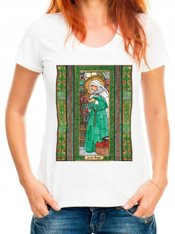 Adult T-shirt - St. Brigid by B. Nippert