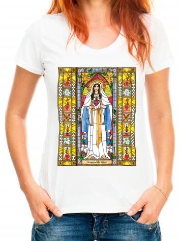 Adult T-shirt - Immaculate Heart of Mary by B. Nippert