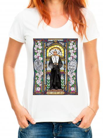 Adult T-shirt - St. Catherine Labouré by B. Nippert