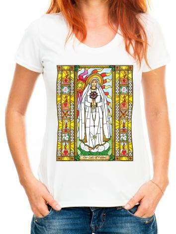 Adult T-shirt - Our Lady of Fatima by B. Nippert