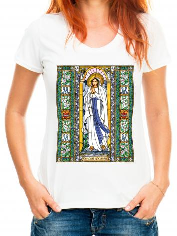 Adult T-shirt - Our Lady of Lourdes by B. Nippert