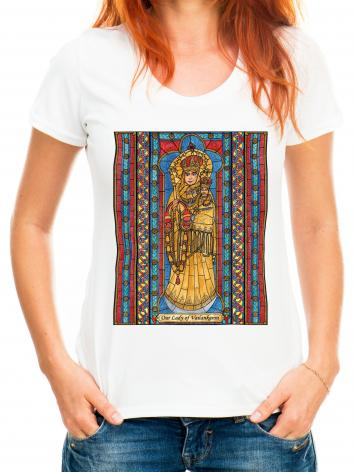 Adult T-shirt - Our Lady of Vailankanni by B. Nippert