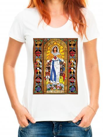 Adult T-shirt - Mary, Mother of Mercy by B. Nippert