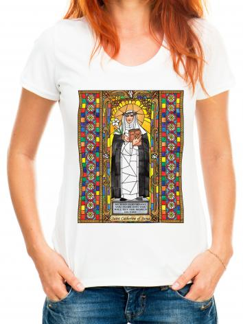 Adult T-shirt - St. Catherine of Siena by B. Nippert