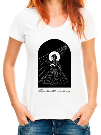 Adult T-shirt - St. Bernadette by D. Paulos