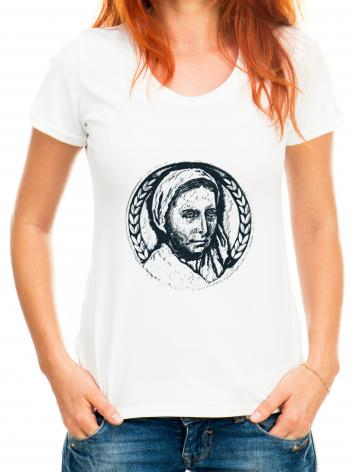 Adult T-shirt - St. Bernadette of Lourdes - Pen and Ink by D. Paulos