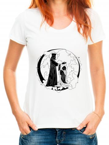 Adult T-shirt - Coronation of Mary by D. Paulos