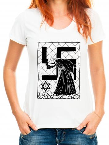 Adult T-shirt - Our Lady of Auschwitz by D. Paulos