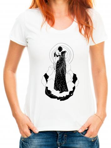Adult T-shirt - He's Put The Whole World In Her Hands by D. Paulos