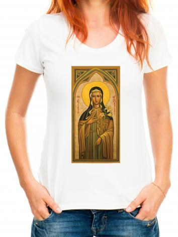 Adult T-shirt - St. Clare of Assisi by J. Cole