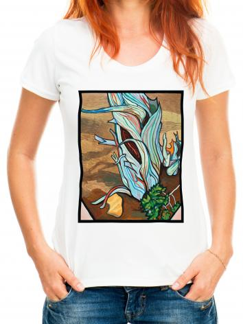 Adult T-shirt - A Shoot From The Stump by L. Williams