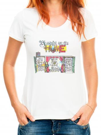 Adult T-shirt - Blessings on the Home by M. McGrath