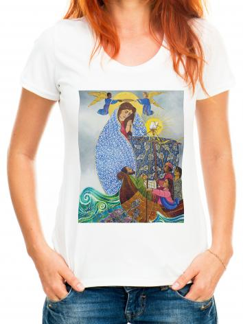 Adult T-shirt - Mary, Queen of the Apostles by M. McGrath