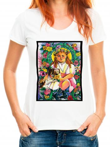 Adult T-shirt - St. Thérèse, the Little Doctor by M. McGrath