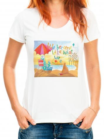 Adult T-shirt - We Become What We Love by M. McGrath