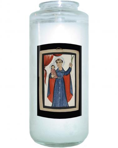 Devotional Candle - St. Anthony of Padua by A. Olivas