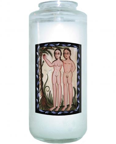 Devotional Candle - Adam and Eve by A. Olivas
