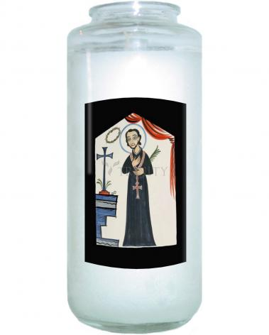 Devotional Candle - St. Cayetano by A. Olivas