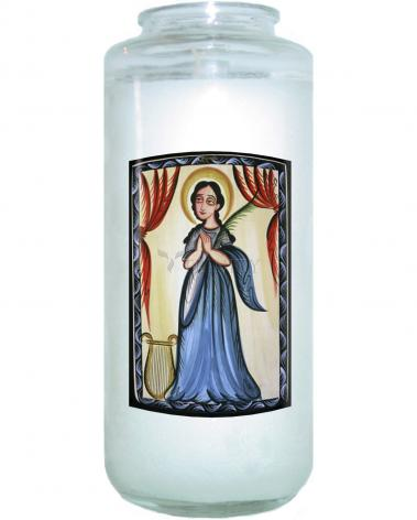 Devotional Candle - St. Cecilia by A. Olivas