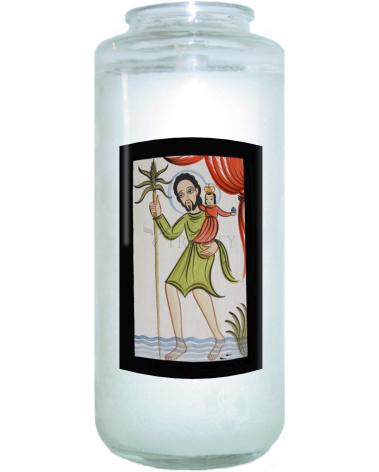 Devotional Candle - St. Christopher by A. Olivas
