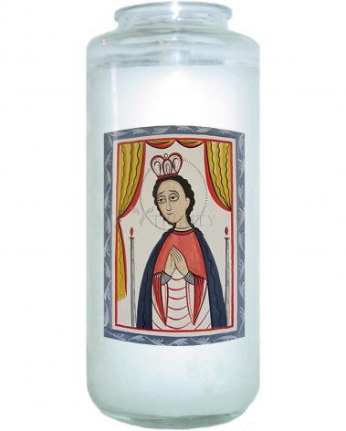 Devotional Candle - Our Lady of San Juan de los Lagos by A. Olivas