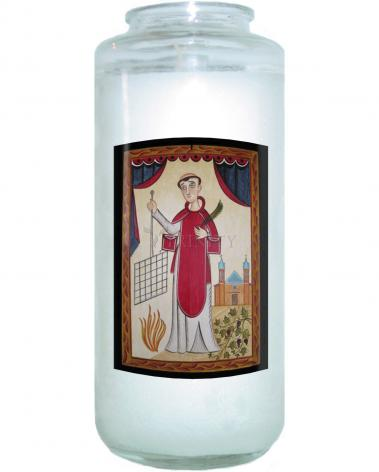 Devotional Candle - St. Lawrence by A. Olivas
