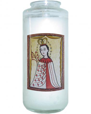 Devotional Candle - Our Lady of the Roses by A. Olivas