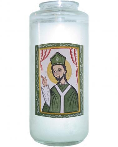 Devotional Candle - St. Patrick by A. Olivas