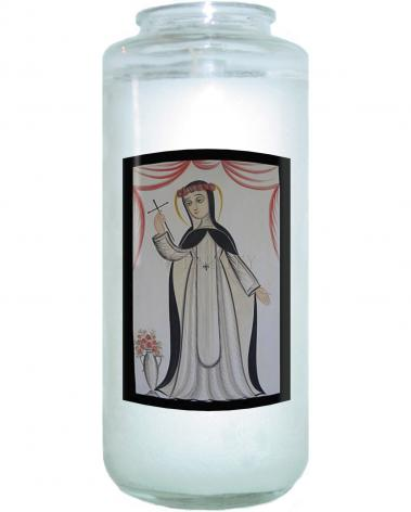 Devotional Candle - St. Rose of Lima by A. Olivas