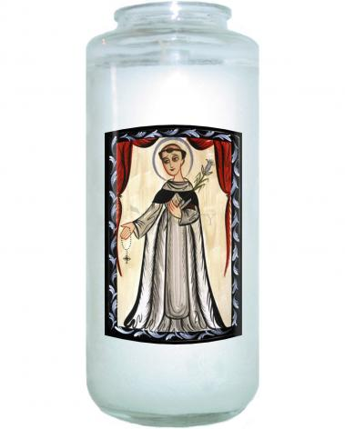 Devotional Candle - St. Dominic by A. Olivas