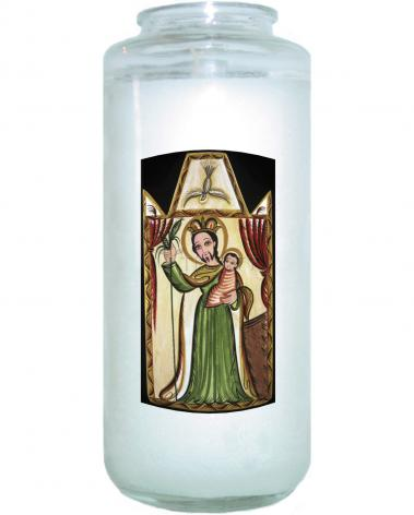 Devotional Candle - St. Joseph by A. Olivas