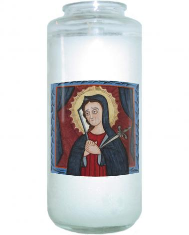 Devotional Candle - Mater Dolorosa - Mother of Sorrows by A. Olivas