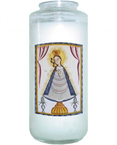 Devotional Candle - Virgin of the Macana by A. Olivas