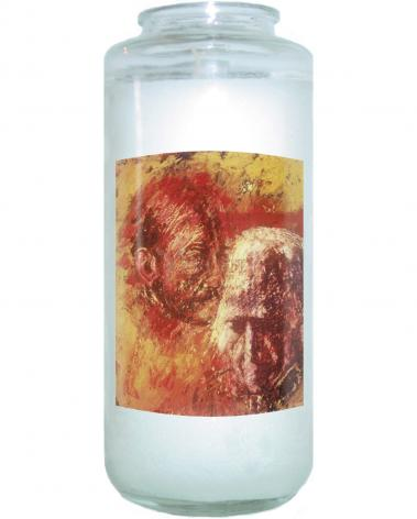 Devotional Candle - Heart of Ignatius on Mind of Arrupe by B. Gilroy