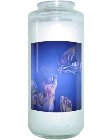 Devotional Candle - As Jesus Commanded by B. Gilroy