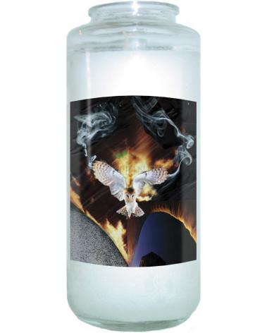 Devotional Candle - Dark Parted by His Appearance by B. Gilroy