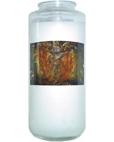 Devotional Candle - Eagle in Fire That Does Not Burn by B. Gilroy