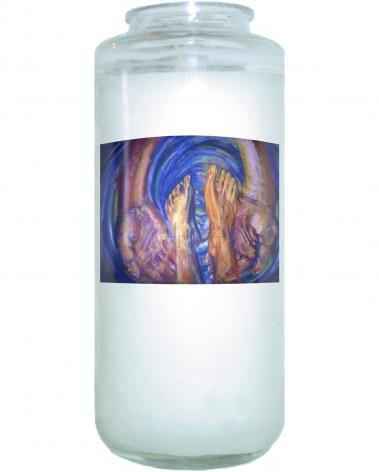 Devotional Candle - Foot Washing by B. Gilroy