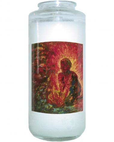 Devotional Candle - Tending The Fire by B. Gilroy